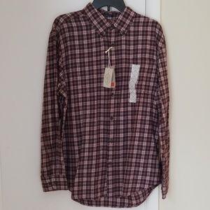 NWT St. John's Bay Plaid Flannel Shirt